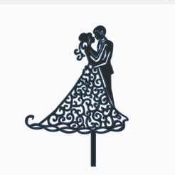 toppercasamiento.png Download STL file topper marriage • 3D printable object, 3dcookiecutter