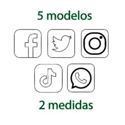 Sin título.png Télécharger fichier STL icônes de l'emporte-pièce dans les médias sociaux • Plan imprimable en 3D, 3dcookiecutter