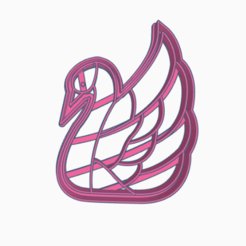 CISNE2.png Download STL file cookie-cutter swan • 3D print object, 3dcookiecutter
