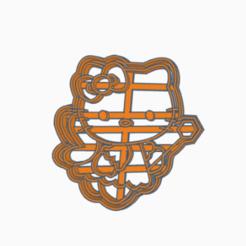 kittyhada2.png Download STL file kitty cookie cutter • 3D printer design, 3dcookiecutter
