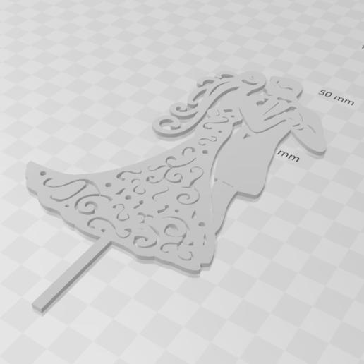toppercasamiento5(C).png Télécharger fichier STL le mariage à l'honneur • Objet pour impression 3D, 3dcookiecutter
