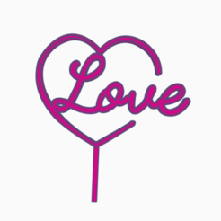 topperlove1.png Download STL file topper love • 3D printer object, 3dcookiecutter