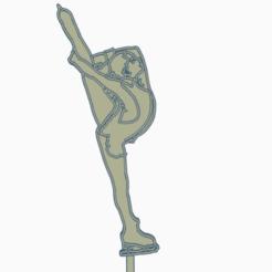 topperyulia.png Télécharger fichier STL patinage en tête • Design imprimable en 3D, 3dcookiecutter