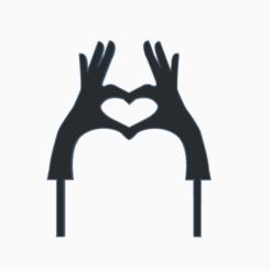 handheart.png Télécharger fichier STL des mains en forme de coeur • Design à imprimer en 3D, 3dcookiecutter