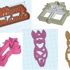 todosllama.png Download STL file Christmas flame cutters • 3D printer model, 3dcookiecutter