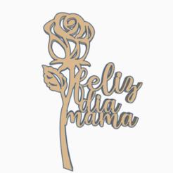rosafdm.png Télécharger fichier STL la fête des mères • Design à imprimer en 3D, 3dcookiecutter