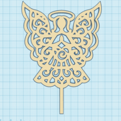 angel.png Download STL file topper angel • 3D printing object, 3dcookiecutter