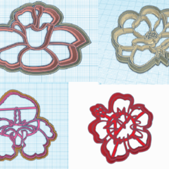 todas.png Download STL file flowers various cookie cutters • 3D print object, 3dcookiecutter