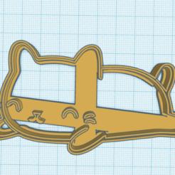 gatitodormido2.png Télécharger fichier STL coupeurs de chatons • Objet à imprimer en 3D, 3dcookiecutter