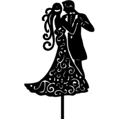 toppercasamiento5(B).png Download STL file topper marriage • 3D printable object, 3dcookiecutter