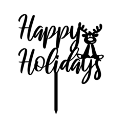 hh2.png Download STL file topper happy holydays • 3D printable template, 3dcookiecutter