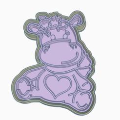 hipo.png Télécharger fichier STL moule à biscuit hippopotame • Objet imprimable en 3D, 3dcookiecutter