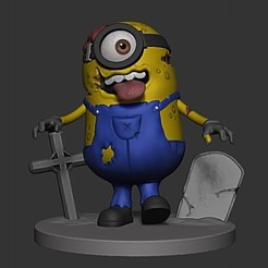 Download 3D print files MINION ZOMBIE, DLART91