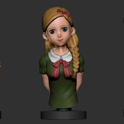 Download free 3D printing templates Anime Girl, DLART91