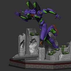EVA01_1.jpg Download STL file EVA01 Diorama • 3D print template, DLART91