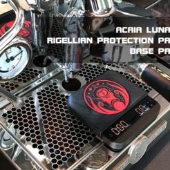 AcaiaRigellionTitlePage.png Télécharger fichier STL gratuit Acaia Lunar - Coussin de protection contre les écailles d'espresso avec un design rigellien • Modèle pour impression 3D, flyinggorilla