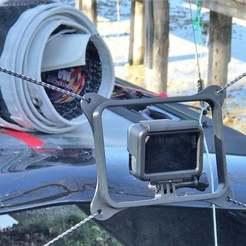 Download free 3D printer templates GoPro mount for A-Class Catamaran, flyinggorilla