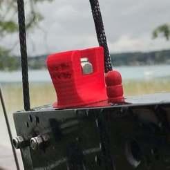 Download free 3D printing templates Whisper foiling catamaran ride height adjustment knob, flyinggorilla
