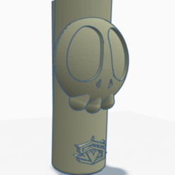 cartoonSkull.PNG Download STL file Clipper lighter cover - CartoonSkull • 3D print object, SVdesigns-3D