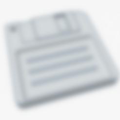 Disquete-Llavero.stl Download STL file Floppy disk key ring - key chain • 3D printable model, SVdesigns-3D