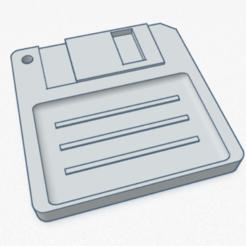 Download STL file Floppy disk key ring - key chain, SVdesigns-3D