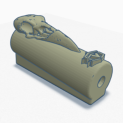 ravenSkull.PNG Download STL file Clipper lighter cover - RavenSkull • 3D printing object, SVdesigns-3D