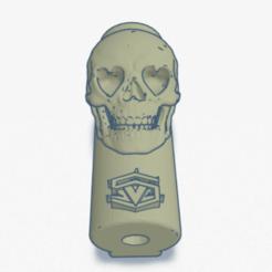 LoveSkull.png Download STL file Clipper lighter cover - LoveSkull • 3D print object, SVdesigns-3D