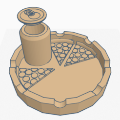 Download free 3D printer designs Pizza ashtray - Pizza ashtray, svcsamu