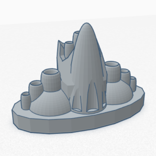 Download STL file Futurist Building - Role Playing Games • 3D printable design, SVdesigns-3D