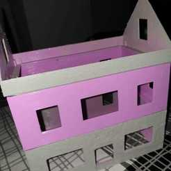 Sample house.jpeg Download free STL file Roofs for 28mm buildings - The Carentan Project • 3D print template, TheCarentanProject
