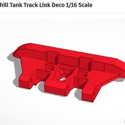 Download 3D printer designs Churchill Tank Track Link Deco 1/16 Scale, breznak89