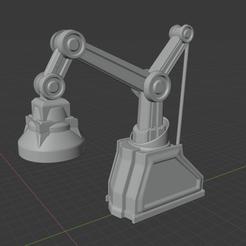 CraneConcept.png Télécharger fichier STL gratuit Terrain miniature de science-fiction - Grue magnétique • Design imprimable en 3D, LoreChest