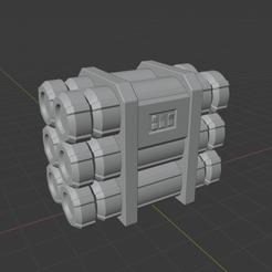 Download free STL file Sci-Fi Scatter Terrain - Canister Stacks (2 Sizes) • 3D printer design, LoreChest