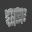 CanisterStackConcept.png Download free STL file Sci-Fi Scatter Terrain - Canister Stacks (2 Sizes) • 3D printer design, LoreChest
