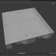 RaisedPlatform.png Download free STL file Sci-Fi Miniature Terrain - Industrial Raised Platform, Low • 3D print design, LoreChest