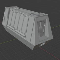 Download free 3D printer designs Sci-fi Miniature Terrain - Mobile Cargo Crate Inspired by Solo Train Heist, LoreChest