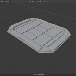 ScifiPad.png Download free STL file Sci-fi Miniature Terrain - Industrial Cargo Pad Floor • 3D printable template, LoreChest