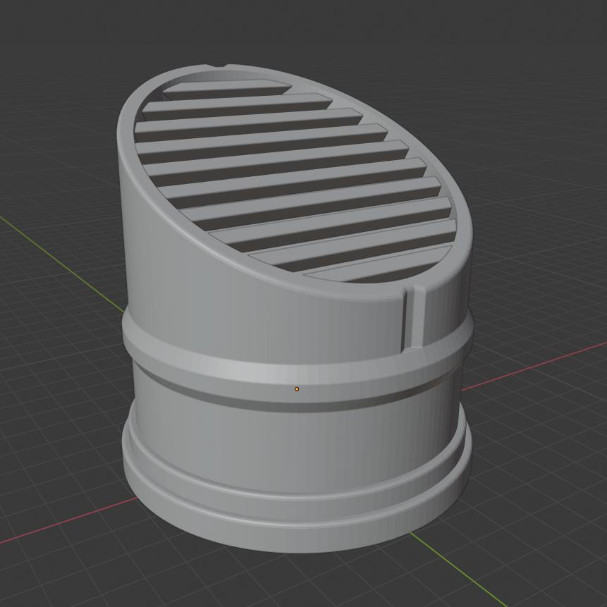 VentConcept.png Download free STL file Sci-fi Miniature Terrain - Scalable Vent • 3D print object, LoreChest