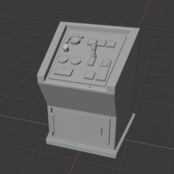 CaptureControlPodium.PNG Download free STL file Sci-Fi Prop Miniature - Standing Control Panel Podium • Template to 3D print, LoreChest