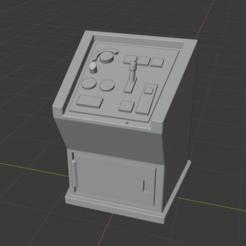 CaptureControlPodium.PNG Télécharger fichier STL gratuit Sci-Fi Prop Miniature - Panneau de contrôle debout Podium • Design à imprimer en 3D, LoreChest