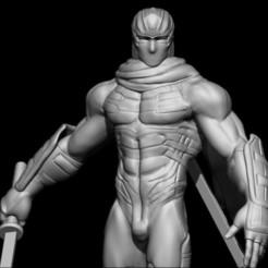 Render Cercano.jpg Descargar archivo STL Ninja Gaiden : Ryu Hayabusa (Fan Art) • Objeto para impresora 3D, Wolfbite