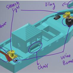 IMG_9540(20200812-130253).PNG Télécharger fichier STL Bateau de pêche V2.0 • Objet imprimable en 3D, rayrayray0495