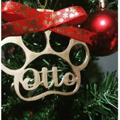 otto.jpg Download free STL file Christmas Ornament Footprint • 3D printing design, Lipzylady