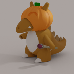 CuboneRender.png Download free STL file Halloween Cubone • 3D printable model, ozammo13