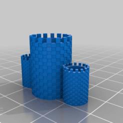 multitowerstationaryholder.png Télécharger fichier STL gratuit Porte-papier du château • Modèle pour impression 3D, ozammo13