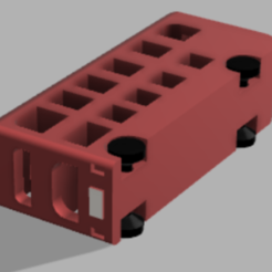 bus_ss.PNG Download free OBJ file Print in place Double Decker Bus with moving wheels • 3D printing template, ozammo13