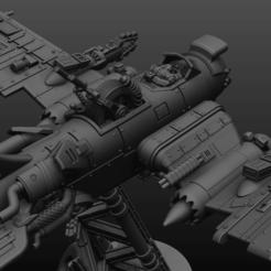 plan kff2.png Download STL file Scrap plane, jet... made for war • 3D printing model, BulwarkGaming