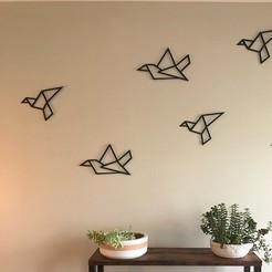 """birdss.jpg Télécharger fichier STL Décoration Mural """"Oiseau""""  • Plan imprimable en 3D, vicky777plus"""