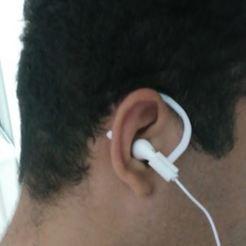 Download free 3D printer designs Earphone Ear Hook, marcos_ffsouza