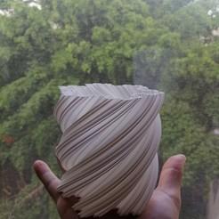 IMG_20200823_074738.jpg Download STL file Pot Snow Flake Fractal • 3D print template, Arkc